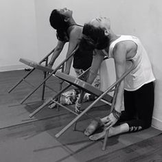 Image result for iyengar yoga backbend chair