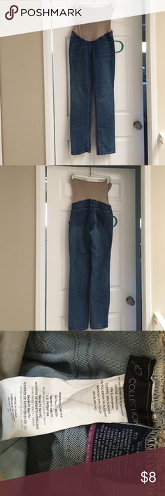"""""""Collection"""" maternity jeans. From motherhood Comfy for prego jeans :) Motherhood Maternity Jeans Straight Leg"""