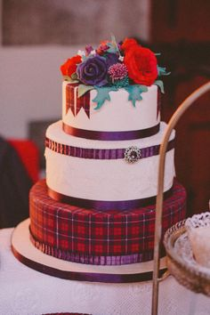 Scottish cake - Love the tartan!