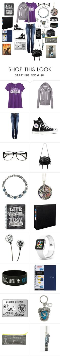 """Back To School"" by mimi-minecrafter on Polyvore featuring Converse, ZeroUV, Natalia Brilli, Avery, Eos, Torrid and school"