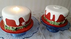 Christmas candle cakes