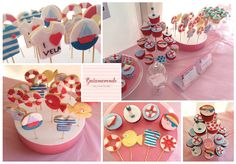 Sail and nautical cupcakes and cookiepops