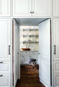 Kitchen, pantry, Architect D. Stanley Dixon, designer Betty Burgess, Atlanta Homes & Lifestyles, white
