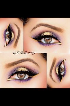 14 glamorous purple eye makeup looks - 14 Glamouröse Lila-Augen-Make-up-Looks – 14 glamorous purple eye makeup looks - Purple Eye Makeup, Love Makeup, Makeup Looks, Hair Makeup, 80s Makeup, Scary Makeup, Prom Makeup, Costume Makeup, Pretty Makeup