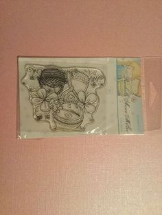 Clear Stamp By Stampavie Rachelle Anne Miller Picking Flowers Rubber Stamp