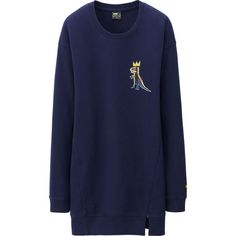 Basquiat for Uniqlo!  cute   WOMEN SPRZ NY L/S LONG SWEAT SHIRT (JEAN-MICHEL BASQUIAT) | UNIQLO