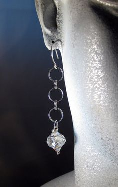 Swarovski crystal dangle earrings by blingbychristine on Etsy, $10.00