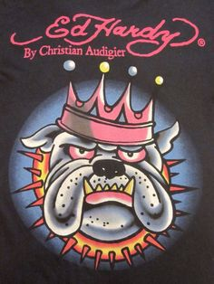 Ed Hardy Bulldog by Christian Audigier
