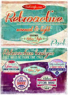 Retroactive Font   dafont.com