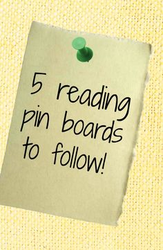 5 Reading Pinterest boards you