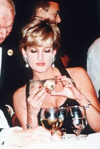 Dec 12, 1995: Diana, The Princess Of Wales Attends A Charity Dinner At The New York Hilton Hotel.