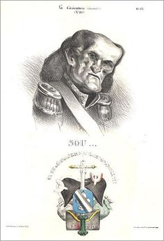Caricature of the Duke of Dalmatia (Marshal Soult) by Honoré Daumier, 1832.