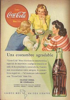 Coca Cola- Publicidad Gráfica Revista Selecciones 1944