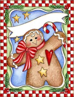 gingerbread card- Laurie Furnell