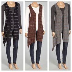 Sleeveless Long Striped Sweater For Women