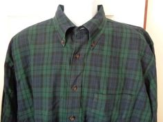 Mens Pendleton Canterbury Long Sleeve Shirt Oxford Plaid Pima Cotton Merino WooL #Pendleton #ButtonFront