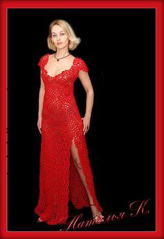 Купить Роскошное платье - авторская работа, платье, авторское платье, вязаное платье, вечернее платье
