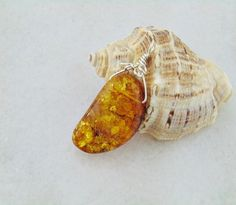 Amber pendant sterling silver amber jewelry amber by styledonna