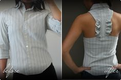 Dress Shirt – Upcycled Love this site with tons of cute DIY fashions :)