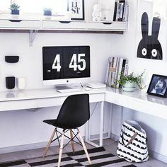 21 IKEA Desk Hacks für den produktivsten Arbeitsbereich * Ever * Ikea L Desk, Ikea Office, Home Office Decor, Home Decor, Ikea Corner Desk, Office Spaces, Ikea L Shaped Desk, White L Shaped Desk, Black Office Furniture
