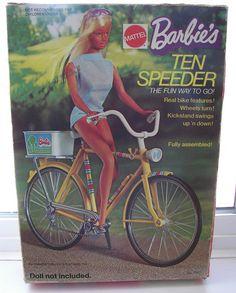 1973 Barbie Ten Speeder #777729, via Flickr. This was a boy's bike, with the bar.