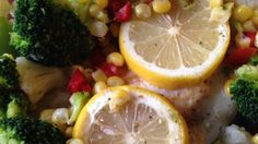 Tilapia is quick and easy to prepare. This flavorful dish uses fresh garlic and lemon to highlight the natural flavor of the fish. Accompanied by cauliflower, broccoli, and red pepper - you have a colorful and satisfying meal.
