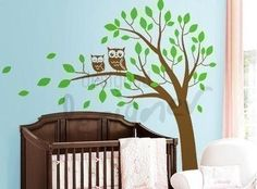 Another tree idea to paint in the nuresy if it's a girl