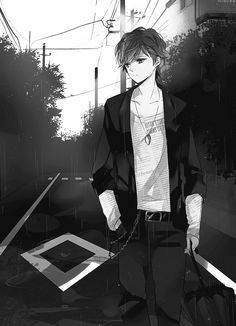 anime boy black and white - Căutare Google