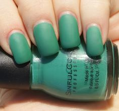 Seamfoam nail color that I can buy in the stores. SinfulColors