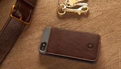 Keeper is a leather card case that fits onto an iPhone 5, providing the utility of a wallet without the added bulk.| Quirky Products.  $34.99