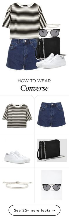 """Untitled #4731"" by eleanorsclosettt on Polyvore featuring TIBI, Topshop, AllSaints, Quay, Converse and Monica Vinader"