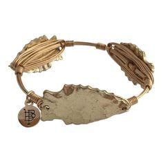 Bourbon and Boweties Gold Arrowhead Bracelet