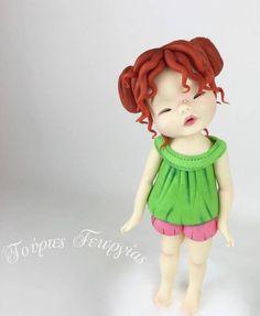 standing fondant little girl tutorial... - CakesDecor