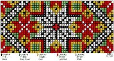 Perlesøm på stramei, bunad. – Vevstua Bull-Sveen Palestinian Embroidery, Bead Crochet Rope, Chart Design, Loom Beading, Perler Beads, Pixel Art, Seed Beads, Cross Stitch Patterns, Needlework