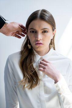 Erin Diane Brass hand earrings