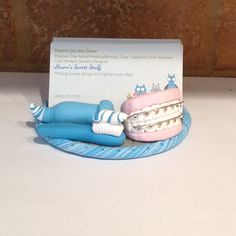 Cardfolio office depot office depots cardfolio makes business cards polymer clay business card holder desktop card holder handmade with polymer clay dental hygiene dentist dental office colourmoves