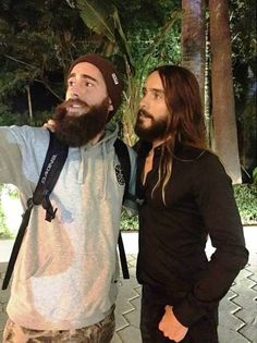 Who's got the better beard? .. Well Mr.Leto  of course