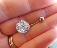 Diamond Belly Button Rings : Iridescent Silver Druzy Belly Button Ring Diamond belly button piercing Sharing is caring, don't forget to share ! Piercing Implant, Piercing Ring, Cute Jewelry, Body Jewelry, Jewelry Rings, Jewlery, Diamond Belly Ring, Cute Belly Rings, Bellybutton Piercings
