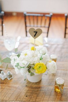 Simple And Sweet Wedding In White And Yellow photographed by Shea Christine and coordinated by Sugar(ed) Event Design and Planning