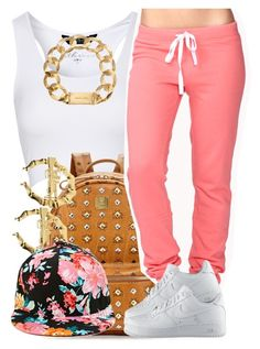 """Stylish and Chill."" by livelifefreelyy ❤ liked on Polyvore featuring Jane Norman, MCM, Forever 21, NIKE and Michael Kors"