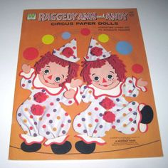 Vintage 1970s Raggedy Ann and Andy Circus Paper Dolls