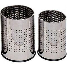 Papelera metalica gy9903 perforada cromada 250 x 325 mm
