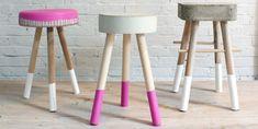 DIY Hocker aus Holz und Beton - Geschnackvoll