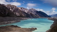 This lake did not exist 40 years ago. Tasman Glacier Lake, Mount Cook National Park. #NewZealand