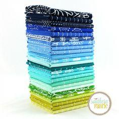 Blueberry Park Cool Fat Quarter Bundle | Karen Lewis | Southern Fabric   25FQ@78.