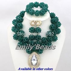 Find More Jewelry Sets Information about New Arrival! Teal Green Nigerian Wedding Costume African Jewelry Sets Handmade Crystal Beaded Jewelry Set Free Shipping AES607,High Quality jewelry korean,China jewelry lamp Suppliers, Cheap jewelry box for sale from Emily's Jewelry DIY Store on Aliexpress.com
