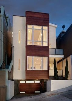 Modern Home modern exteriors on narrow lots Design Ideas, Pictures, Remodel and Decor