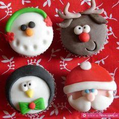 Mooie Kerst cupcakes