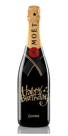 Happy Birthday Star Champagne Moet Chandon Personalizada #Cumpleaños #Regalo