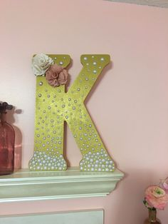 Decorative letter by WLouisa on Etsy